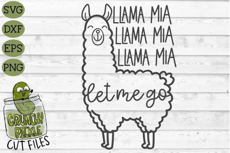 Llama Mia Svg Cut File By Crunchy Pickle Thehungryjpeg Com