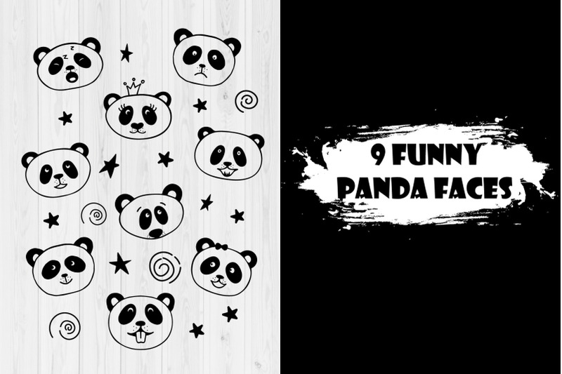collection-of-panda-faces