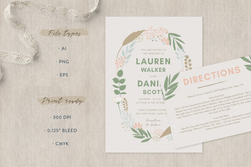 spring-wedding-invitation-suite