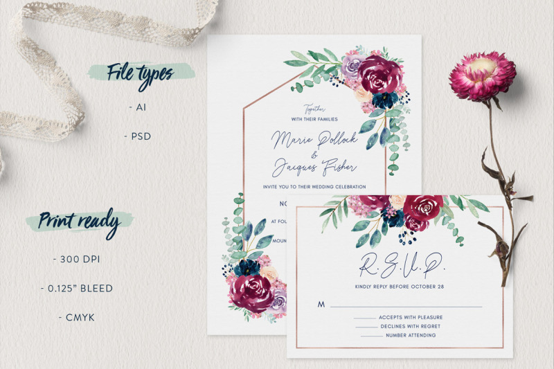 burgundy-and-navy-wedding-invitation-suite