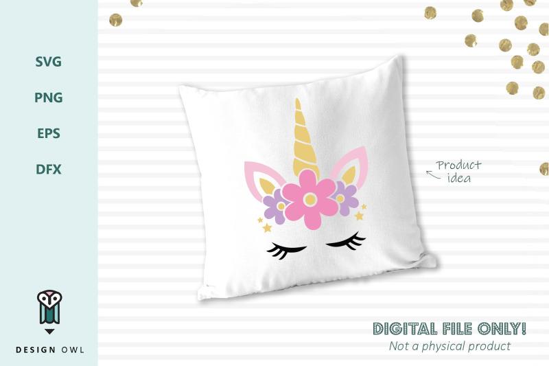 floral-unicorn-face-svg-file