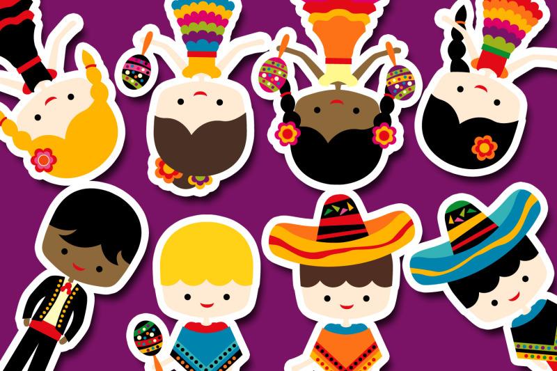 mexican-kids-cinco-de-mayo-illustrations