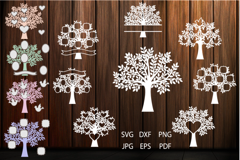 family-tree-svg-tree-clipart-tree-vinyl-decal-tree-art-print-tree