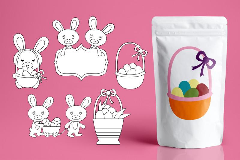 easter-basket-and-bunny-graphics