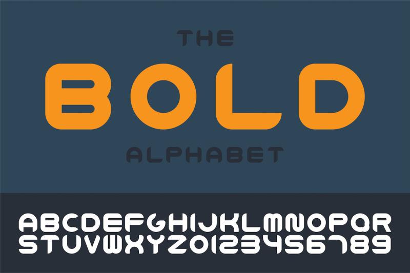 bold-english-vector-trendy-alphabet