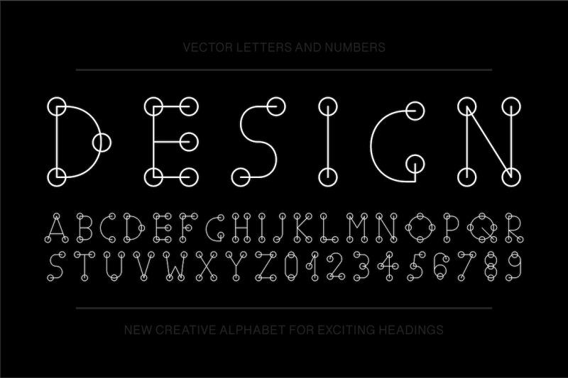 vector-english-stylized-alphabet