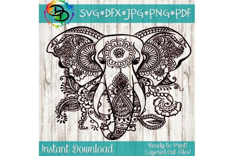 Download Mandala svg Elephant svg svg file for cricut Mandala ...