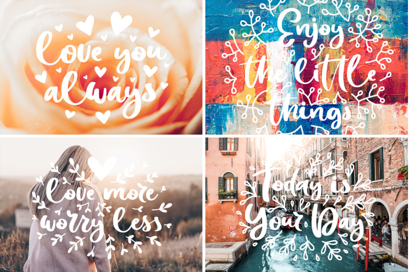 be-amazing-font-with-posters-amp-decor