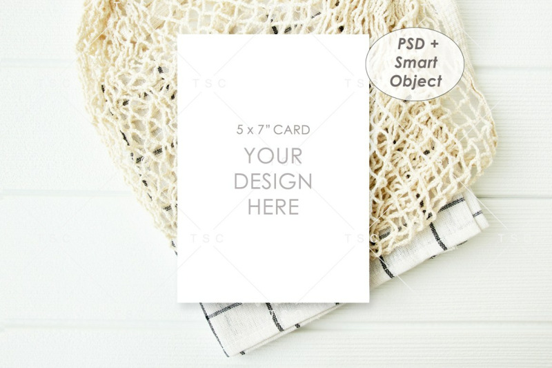 "Free 5"" x 7"" Card Mockup / Invitation Card (PSD Mockups)"