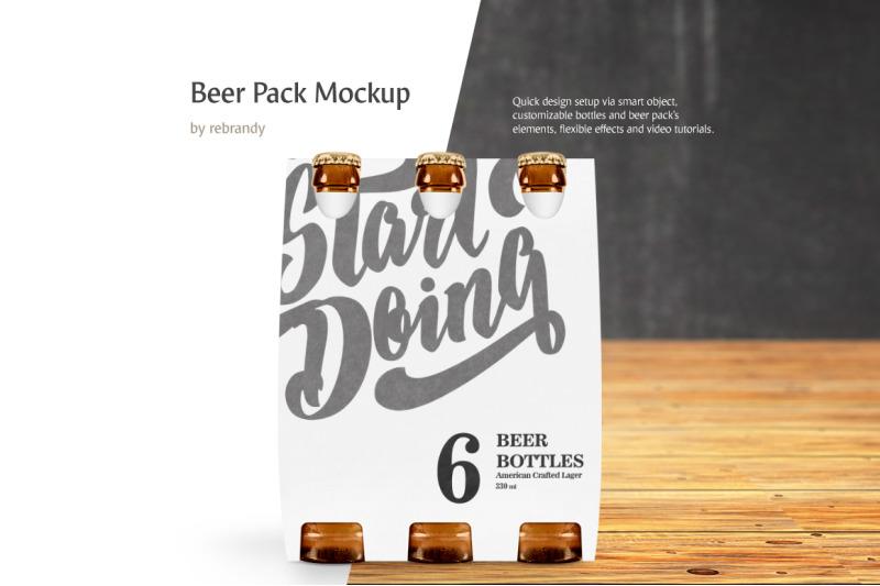 Free Beer Pack Mockup (PSD Mockups)