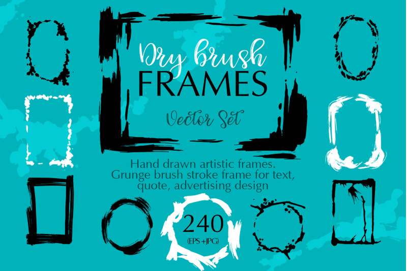 dry-brush-frames-vector-collection-vector-set