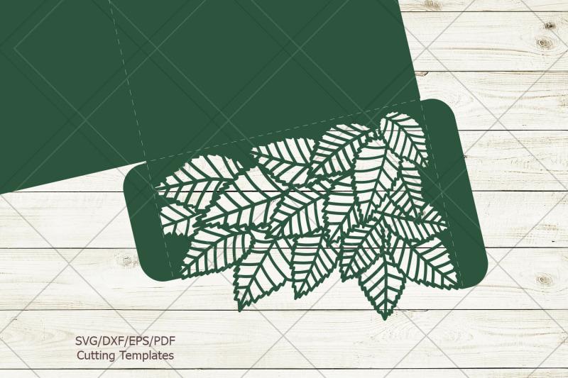 leaves-tri-fold-trifold-envelope-wedding-invitation-svg-dxf-laser-cut