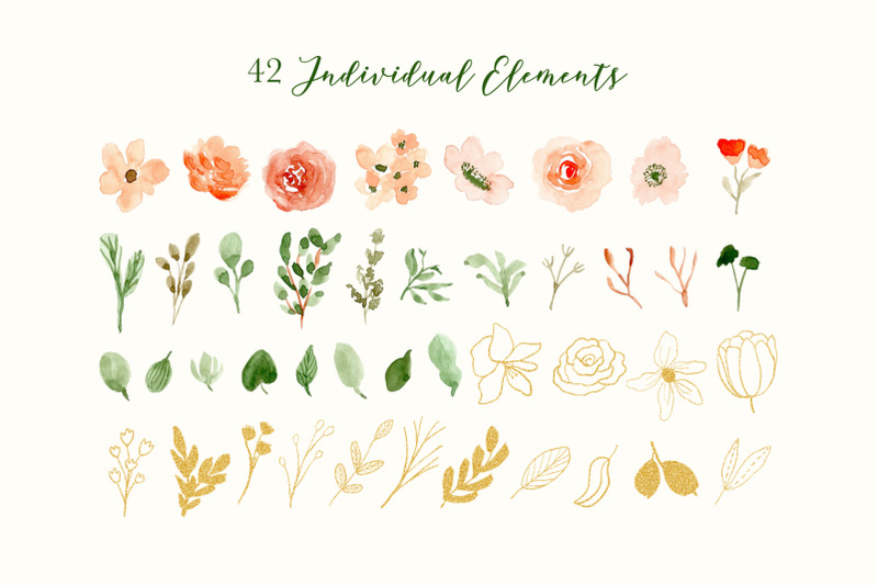 classy-florals-watercolor-clipart
