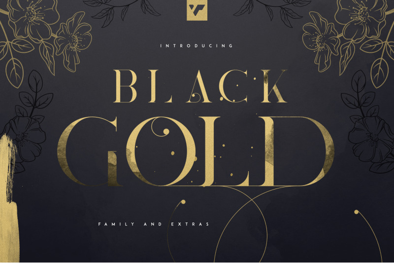 update-black-gold-serif-typeface