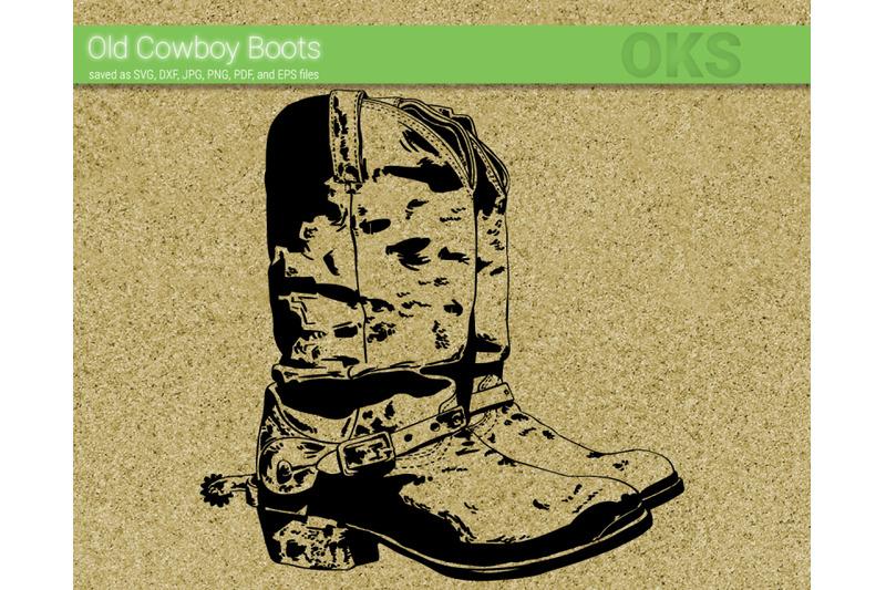 old-cowboy-boots-svg-svg-files-vector-clipart-cricut-download