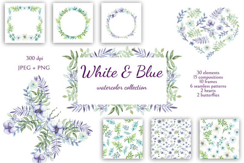 white-and-blue