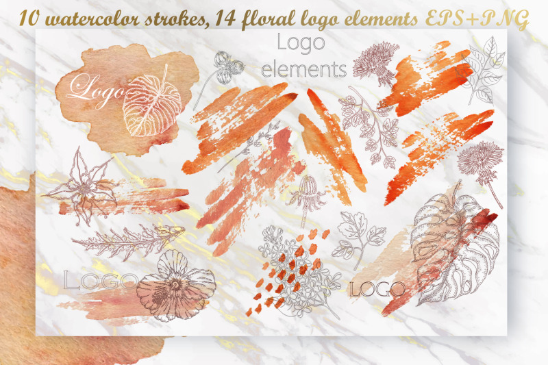 watercolor-strokes-floral-logo-elements