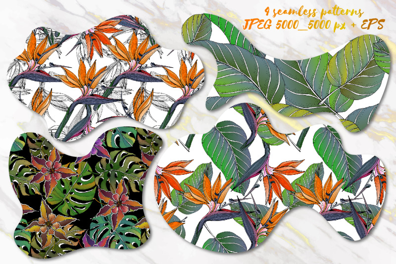 4-floral-exotic-seamless-patterns-sale