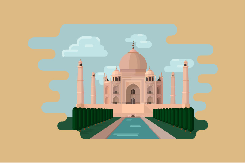 world-wide-architectural-landmark-illustrations-collection