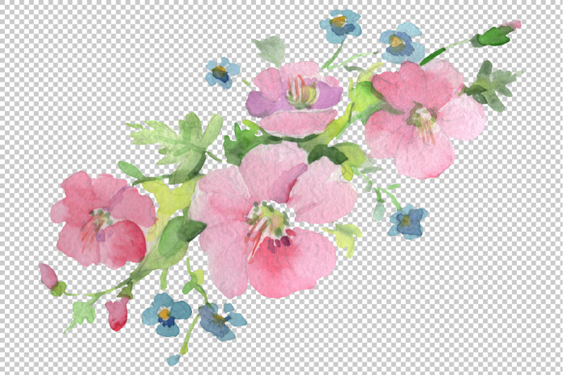 bouquet-clear-morning-pink-and-blue-watercolor-png