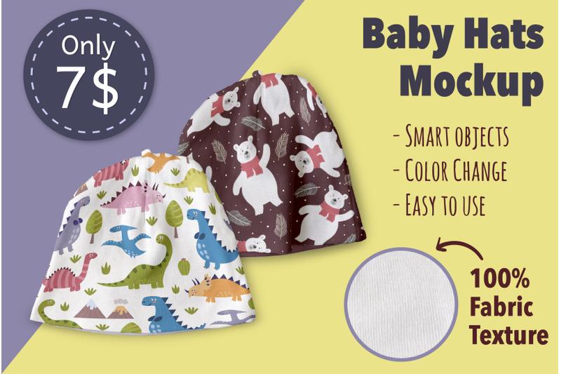 Free Baby Hats Mockup (PSD Mockups)