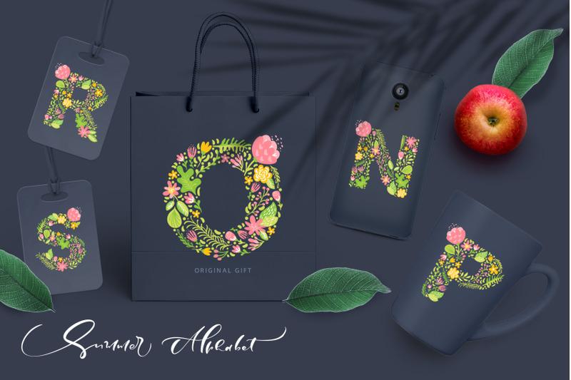 hand-drawn-summer-flower-alphabet-svg