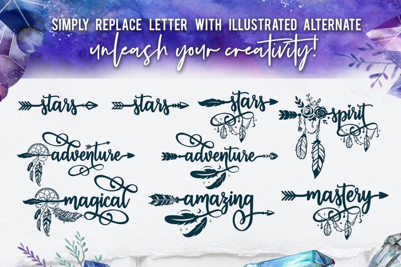 bohema-spirit-font-and-illustrations