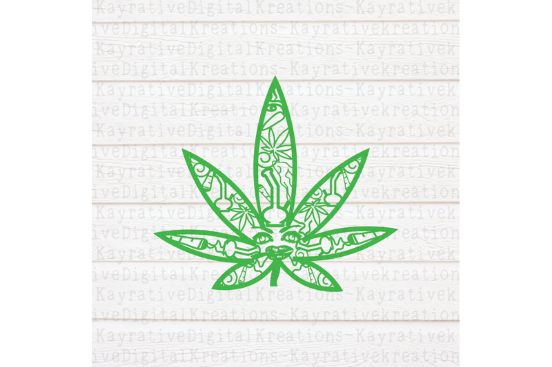 weed-zentangle-svg-marijuana-svg
