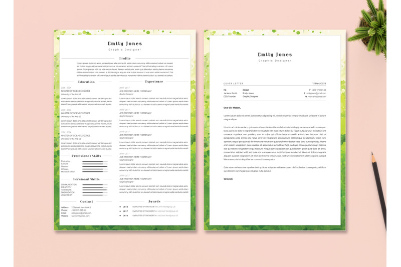 Resume & CoverLetter Template By CNDesignTemplate