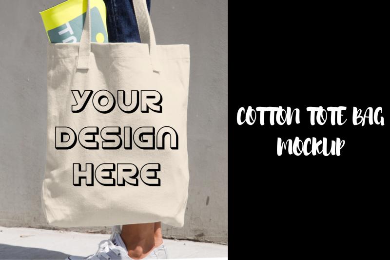 Free Cotton Tote Bag Mockup - Realistic (PSD Mockups)