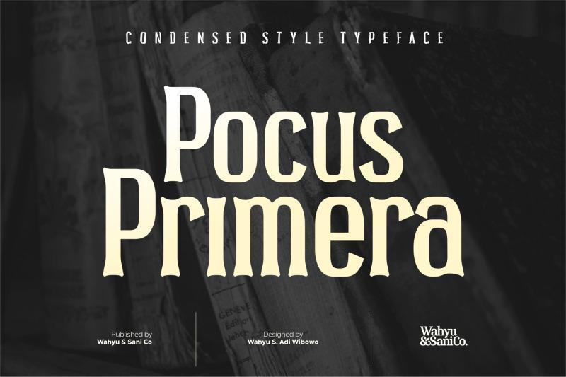pocus-primera-condensed-style-font