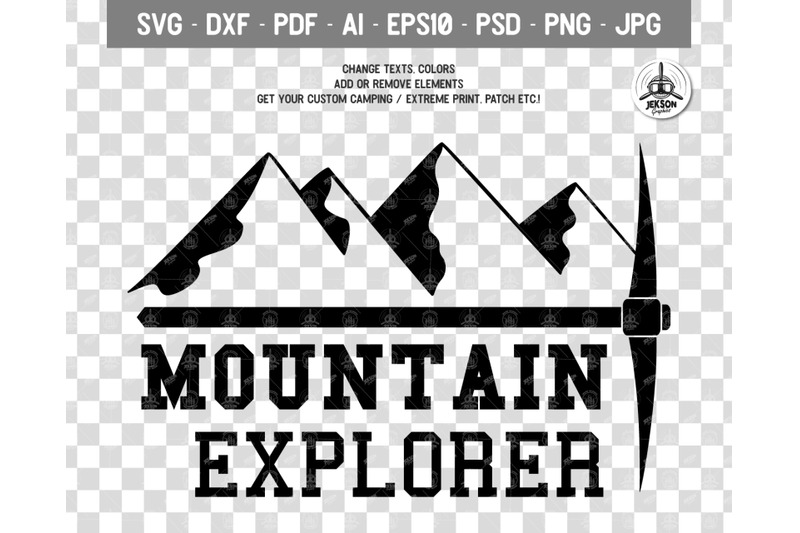 Mountain Logo Retro Adventure Label Templates Svg File By Jekson