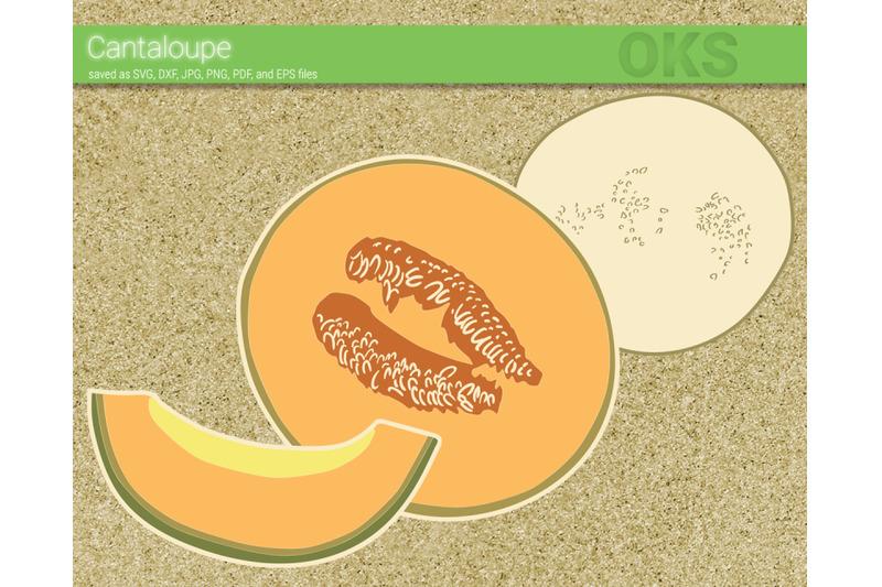 cantaloupe-svg-svg-files-vector-clipart-cricut-download