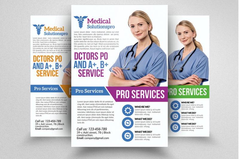 medical doctor flyer template by designhub. Black Bedroom Furniture Sets. Home Design Ideas