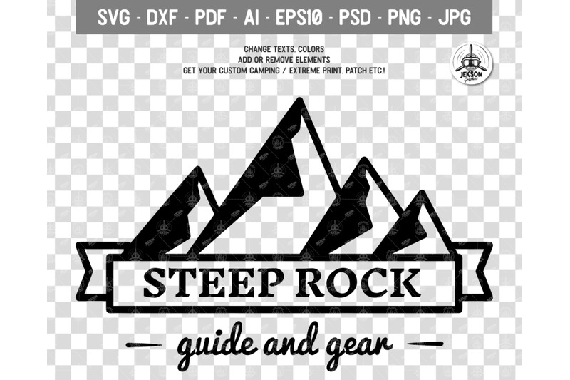 Mountain Vector Logo Retro Camping Badge Template Svg File By