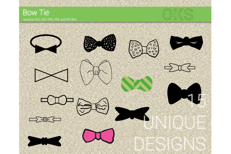 Bow Tie Svg Svg Files Vector Clipart Cricut Download By