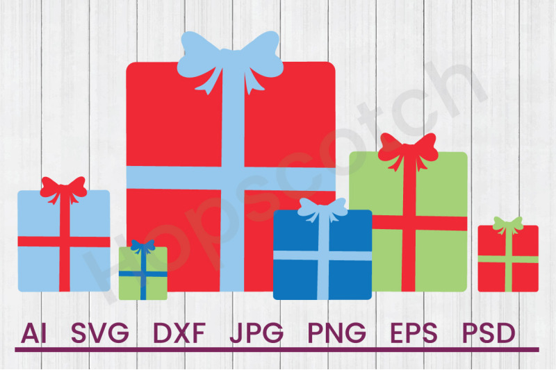christmas-gifts-svg-file-dxf-file