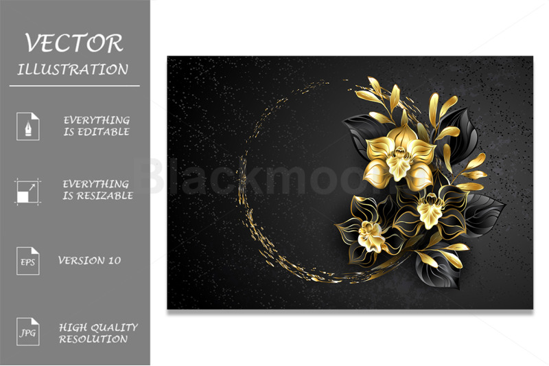 black-jewelry-orchid-with-gold-paint