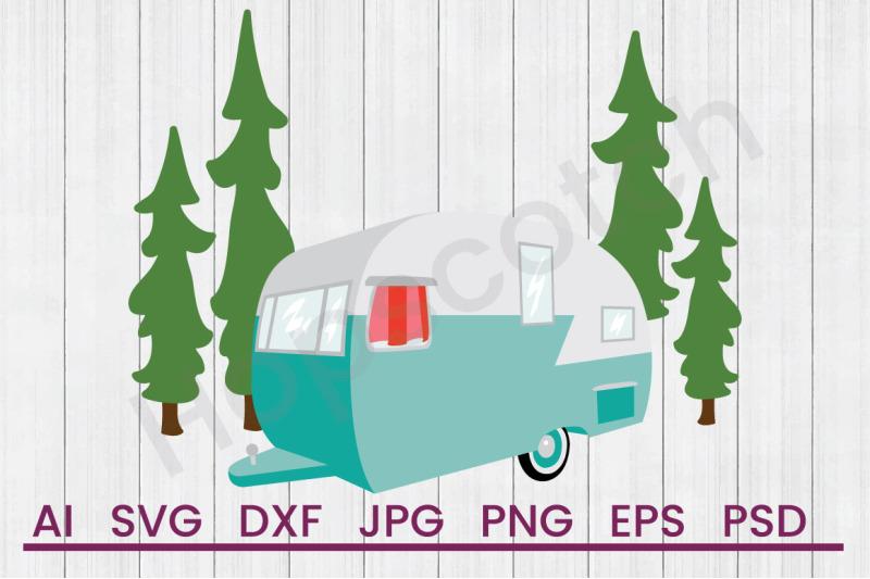 camper-scene-svg-file-dxf-file