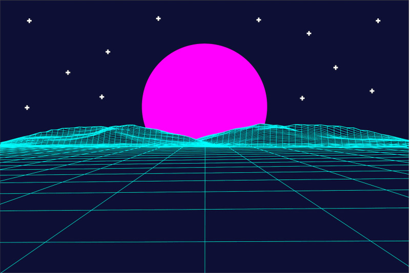 Download Retrowave Space OTF Vaporwave Font Family From