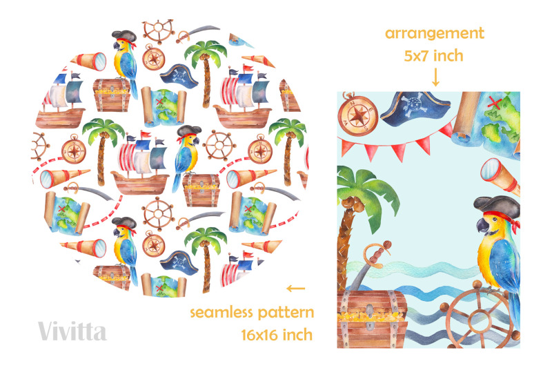 pirates-watercolor-clipart-set-pirates-party