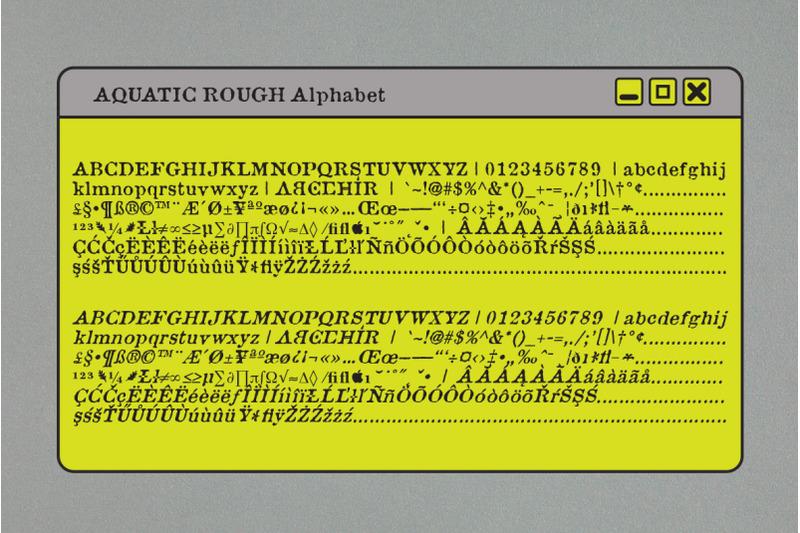 aquatic-font