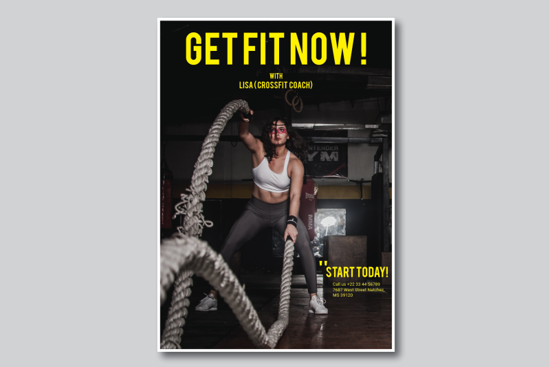 fitness flyer by nirmalagraphics