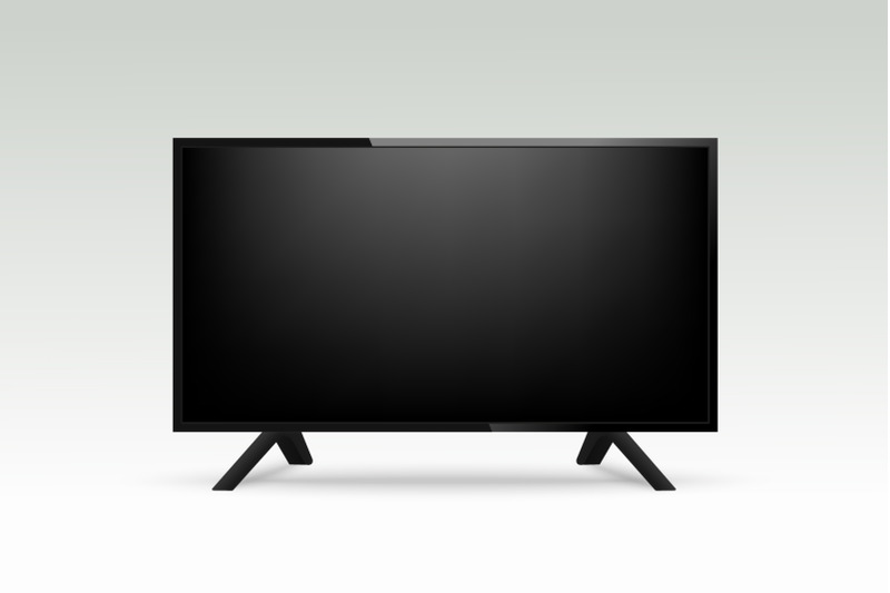 Free Realistic TV Mockup (PSD Mockups)