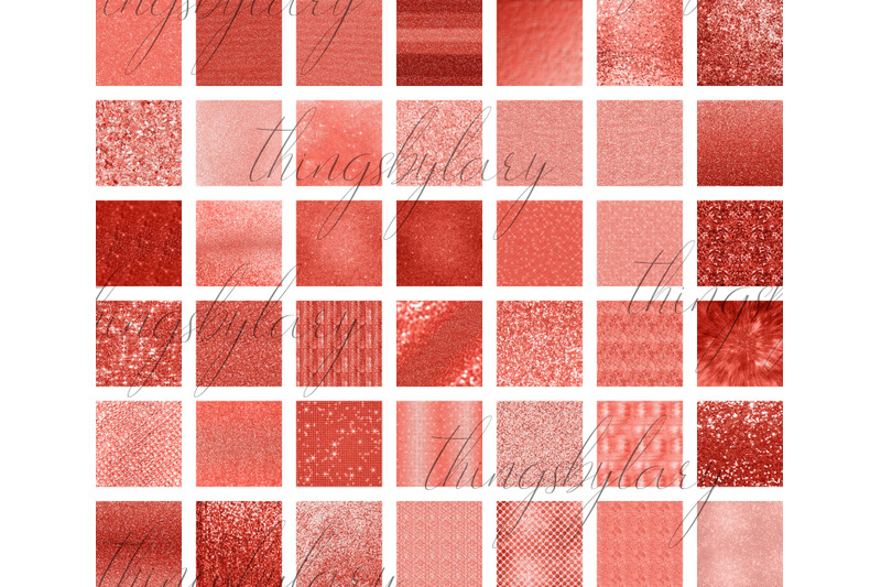 42-living-coral-glowing-glitter-sequin-digital-papers