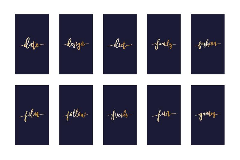 instagram-highlight-covers-gold-script-on-navy
