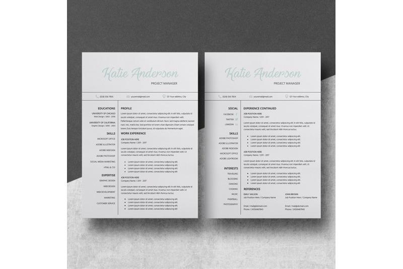 modern resume    creative cv template