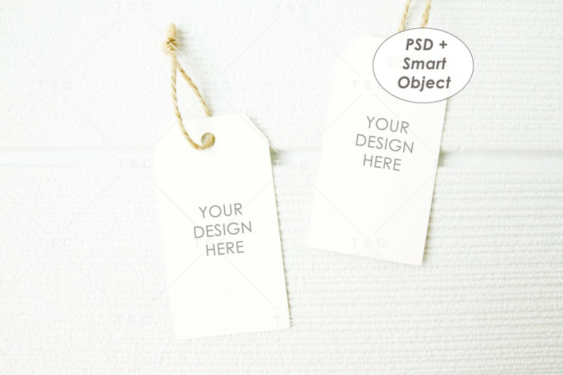 Free Gift Tag / Thank You Tag / Product Tag / Tag Mockup (PSD Mockups)
