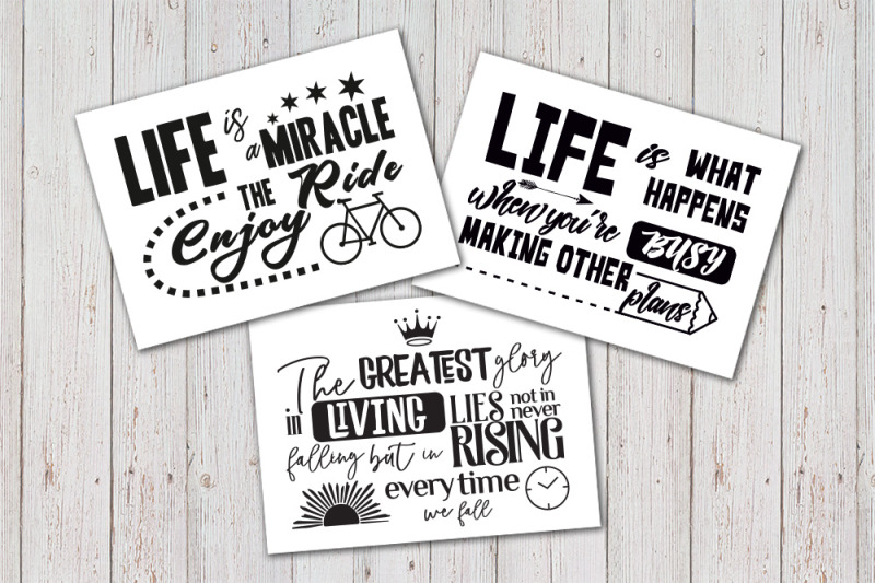 8 Inspirational Quotes Bundle Sign Svg By Dreamer S Designs