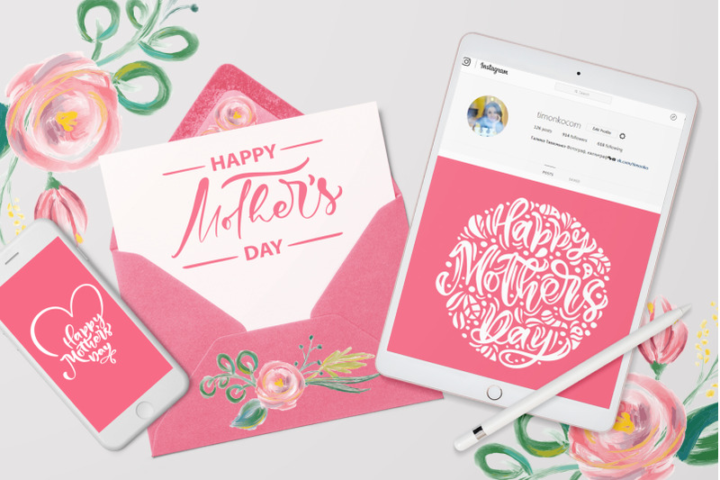 Happy Mother S Day Vector Flower Svg By Happy Letters